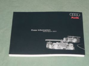 AUDI MOTORSPORT 2001 Press Information Book (Le Mans, ALMS)